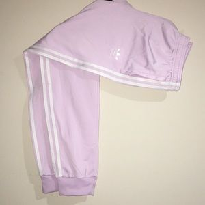 Adidas track pants. Lavender. Brand new.